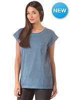CLEPTOMANICX Womens Holiday S/S T-Shirt petrol blue