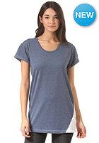 CLEPTOMANICX Womens Ibil S/S T-Shirt heather blue