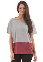 CLEPTOMANICX Womens Lacytop S/S T-Shirt heather gray