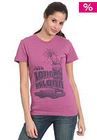 CLEPTOMANICX Womens Long Island Zitrone S/S T-Shirt heather berry