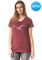 CLEPTOMANICX Womens Mowe S/S T-Shirt burgundy