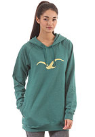 CLEPTOMANICX Womens M�we Long Hooded Sweat heather alpine green