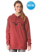 CLEPTOMANICX Womens M�we Long Hooded Sweat heather dried tomato