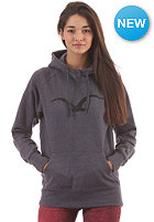 CLEPTOMANICX Womens M�we Scribble Hooded Sweat heather dark navy