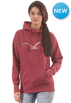 CLEPTOMANICX Womens M�we Scribble Hooded Sweat heather rhabarber