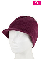 CLEPTOMANICX Womens Pin Visor Beanie berry