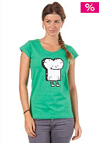 CLEPTOMANICX Womens Pixel Toast Basic S/S T-Shirt kelly