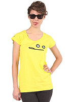 CLEPTOMANICX Womens Smile Zitrone S/S T-Shirt bright yellow