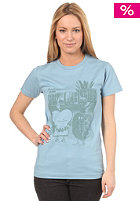 CLEPTOMANICX Womens Toast Hawaii S/S T-Shirt tourmaline blue