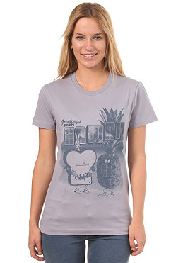 CLEPTOMANICX Womens Toast Hawaii S/S T-Shirt lilac gray
