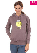 CLEPTOMANICX Womens Zitrone Hooded Sweat heather pepper