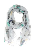 CODELLO Womens Brushed Colours Scarf light blue