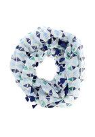CODELLO Womens Ethno Loop with Tassels Scarf navy blue