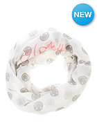 CODELLO Womens Smiley Loop Scarf off white