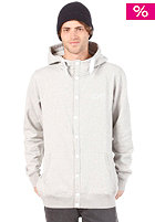 COLOUR WEAR Button Hooded Sweat grey melange