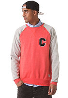 COLOUR WEAR C Team Crew Sweatshirt red melange