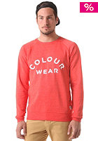 COLOUR WEAR Colour Crew Sweatshirt red melange