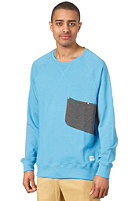 COLOUR WEAR Cut Crew Sweat loft blue melange
