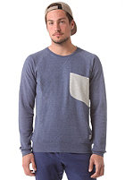 COLOUR WEAR Cut Crew Sweatshirt navy melange