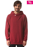 COLOUR WEAR Fold Hooded Sweat burgundy melang