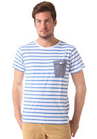 COLOUR WEAR Pocket S/S T-Shirt marina stripe