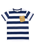 COLOUR WEAR Pocket S/S T-Shirt navy stripe