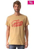 COLOUR WEAR Spray S/S T-Shirt camel