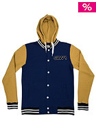 COLOUR WEAR Varsity Hooded Jacket navy