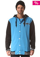 COLOUR WEAR Varsity Hooded Jacket sky blue
