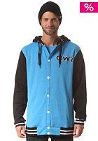 COLOUR WEAR Varsity Hooded Jacket sky blue