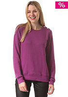 Womens Button Crew Sweat lilac