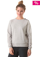COLOUR WEAR Womens Button Crew Sweatshirt grey melange