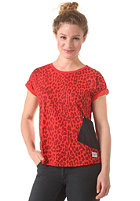 COLOUR WEAR Womens Holk Top red leo