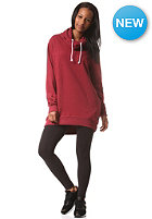 COLOUR WEAR Womens Knight Hooded Sweat burgundy melang