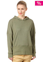 COLOUR WEAR Womens Loose Hooded Sweat olive melange