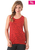 COLOUR WEAR Womens Solid Tank Top red leo