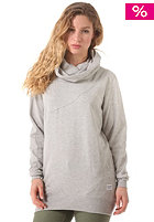 COLOUR WEAR Womens Tube Hooded Sweatshirt grey melange
