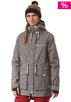 COLOUR WEAR Womens UP Parka grey melange