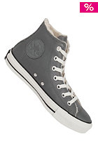 CONVERSE Chuck Taylor All Star Hi Leather Shearling charcoal