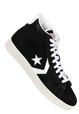 CONVERSE Pro Leather Mid Sued black/white