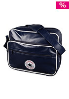 Vintage Patch PU Shoulder Bag dark blue
