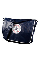 CONVERSE Vintage Patch PU Shoulder Flap Bag dark blue
