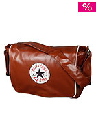 CONVERSE Vintage Patch PU Shoulder Flap Bag light cognac