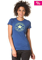 CONVERSE Womens 1 Col Chuck Patch Crew S/S T-Shirt midnight lake
