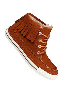 CONVERSE Womens All Star Moc Fringe Mid Suede m. robe