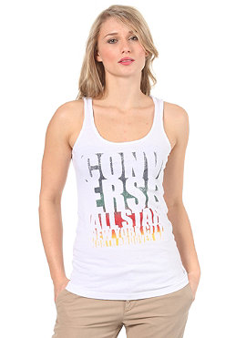 CONVERSE Womens All Star Rainbow Tank Top white