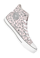 CONVERSE Womens Chuck Taylor All Star Cheetah Hi Canvas crystal pink/limestone