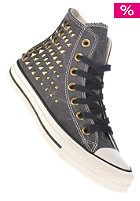 CONVERSE Womens Chuck Taylor All Star Collar Studs Hi jet black