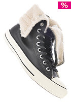 CONVERSE Womens Chuck Taylor All Star Knee Hi Shearling black