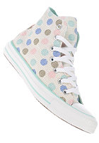 CONVERSE Womens Chuck Taylor All Star Polka Dot Print Hi white